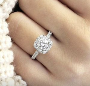 Luxurious 925 Sterling Silver Natural Gemstones White Sapphire Princess Romantic wadding ring sizes 8/9 for Sale in Moreno Valley, CA
