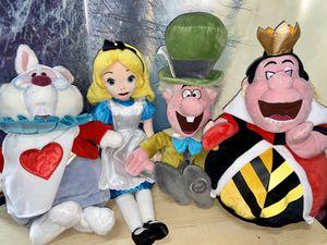 Disney Alice in Wonderland Plush Set 4 for Sale in Long Beach, CA