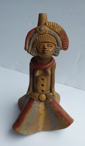 Authentic Mexican Primitive Clay Flute for Sale in Puyallup, WA