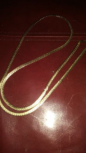 GF gold snake necklace long for Sale in Boston, MA