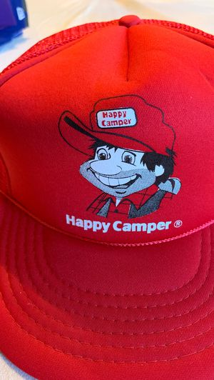 Vintage HAPPY CAMPER trucker hat. for Sale in Los Angeles, CA