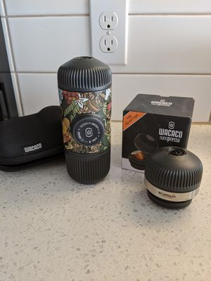 Wacaco Nanopresso with Nespresso Adapter Travel Size Manual Coffee Maker for Sale in Portland, OR