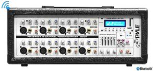 8-Channel Bluetooth Stage Powered Mixer - Pro Audio Sound Mixer, MP3/USB/SD Readers, Aux(3.5mm) Input, Digital LCD Display (800 Watt) for Sale in North Las Vegas, NV