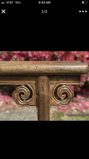 Asian carved wooden bench antique for Sale in San Diego, CA