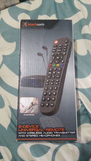 6 devices universal remote for Sale in Fresno, CA