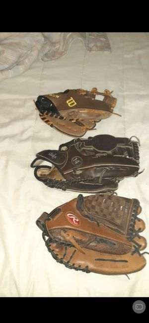 Rawlings, Wilson and Steele baseball gloves for Sale in Parma, OH