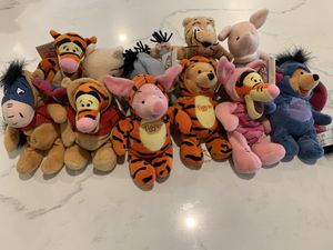 Classic Winnie the Pooh Beanie collection and Halloween collection for Sale in Sierra Madre, CA