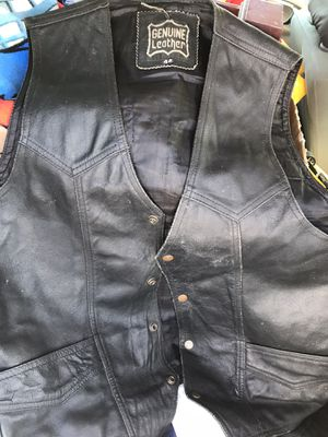 Genuine Leather Motorcycle vest for Sale in Gainesville, GA