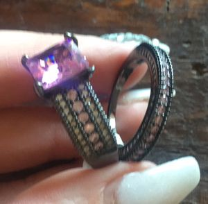 Black Gold Filled Double Ring. size 7 for Sale in Denver, CO