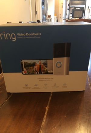 Ring Video Doorbell 3 for Sale in Spring, TX