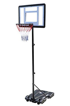 """New $65 Junior Kids Sports Basketball Hoop 31x23"""" Backboard, 5ft-7ft Adjustable Stand w/ Wheel for Sale in Pico Rivera, CA"""
