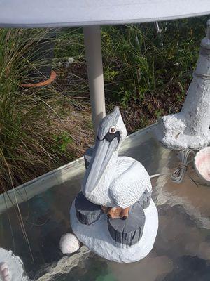 "Stone Pelican sculpture lamp 30""T 12x9"" base for Sale in Ruskin, FL"