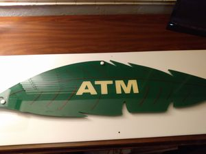 ATM Hanging Sign Decor Clear Plastic for Sale in Belleair, FL
