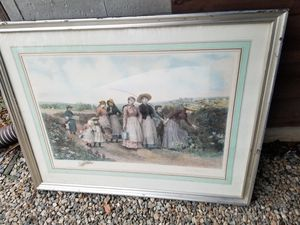 Jennie Brownscombe Berry pickers etching for Sale in Lebanon, CT
