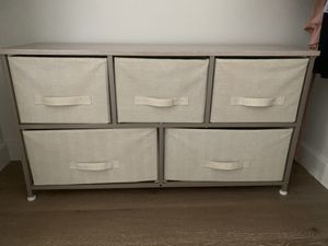 5 drawer organizing closet storage for Sale in New York, NY