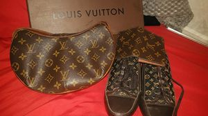 Louis Vuitton bag,shoes size 6 and wallet for Sale in Los Angeles, CA