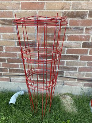 RED GALVANIZED PLANT / VEGETABLES SUPPORT for Sale in Frisco, TX