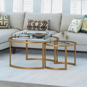 Jaden Brass Nesting Coffee Table Set for Sale in Shorewood, IL