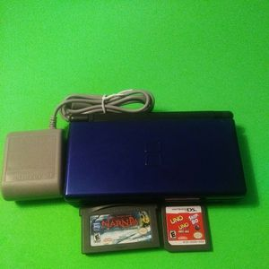 Nintendo Ds Lite Bundle ( Console,charger,stylus And 2 Games Narnia-gba And Uno-Ds for Sale in Miami, FL