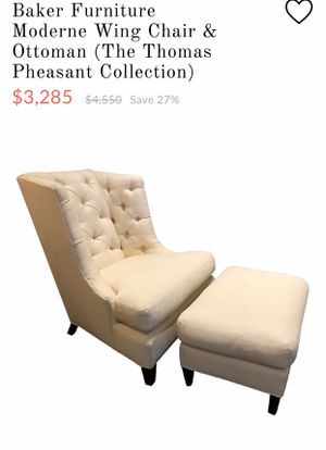 Baker Furniture Moderne Wing Chair & Ottoman for Sale in Edgewood, WA