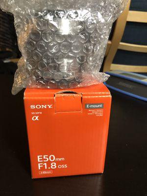 Sony E50mm F1.8 Len for Sale in Vienna, VA