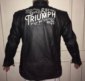 Triumph Beachley Mens Motorcycle Jacket - Large - for Sale in Houston, TX