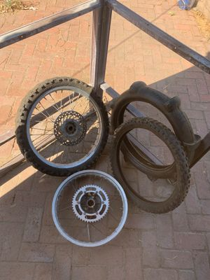 Dirt bike tires and rims for Sale in Fresno, CA