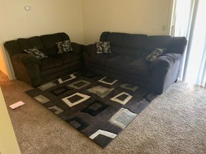 Couches and rug for Sale in Tulsa, OK