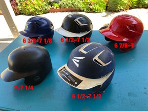 Baseball helmets also have bats gloves and baseball equipment for Sale in Los Angeles, CA