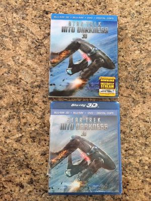 Star Trek Into Darkness 3D DVD set with Lenticular Cover $5.00 for Sale in Holmdel, NJ