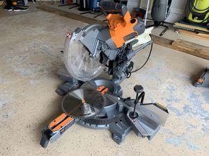 "12"" ridgid sliding compound miter saw duel bevel for Sale in Coconut Creek, FL"