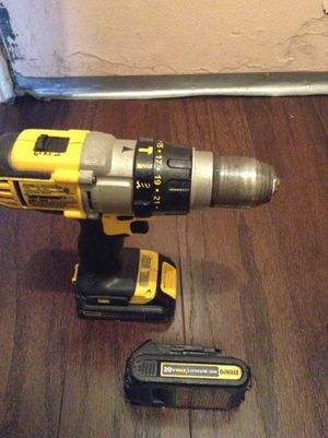 Used Dewalt hammer drill 20 volts 2 batteries for Sale in Washington, DC
