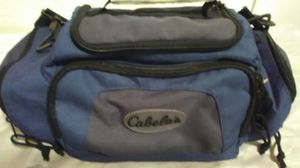Cabela's Blue Outdoor Hunting Fishing Tackle Sport Utility Tote Bag w Strap for Sale in Newton, KS