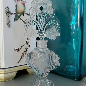 Vintage 1940s Imperial Grapevine Perfume Glass Bottle for Sale in Lancaster, CA