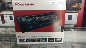 Pioneer deh-s4100bt CD RDS receiver /autoradio CD RDS reproductor Bluetooth made for iPhone compatible with Android Pandora Spotify for Sale in Fontana, CA