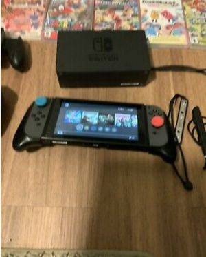 Used but like new Nintendo switch and 7 games for Sale in Gainesville, GA