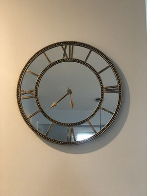 Mirrored wall clock for Sale in Federal Way, WA