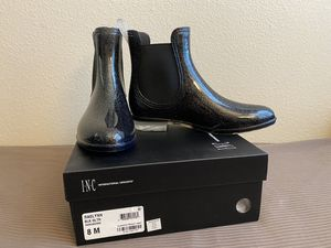 New in box INC ankle rain boots for Sale in Carlsbad, CA