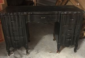 Antique solid wood desk for Sale in Katy, TX