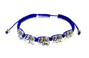 12 Blue Corded Bracelets with Elephant Charms Adjustable for Sale in City of Industry, CA