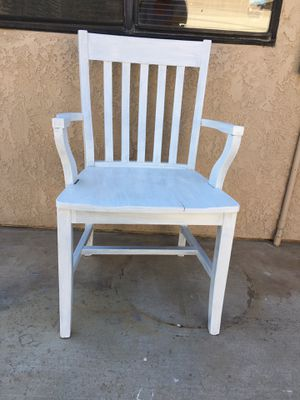 White wood chair for Sale in Riverside, CA
