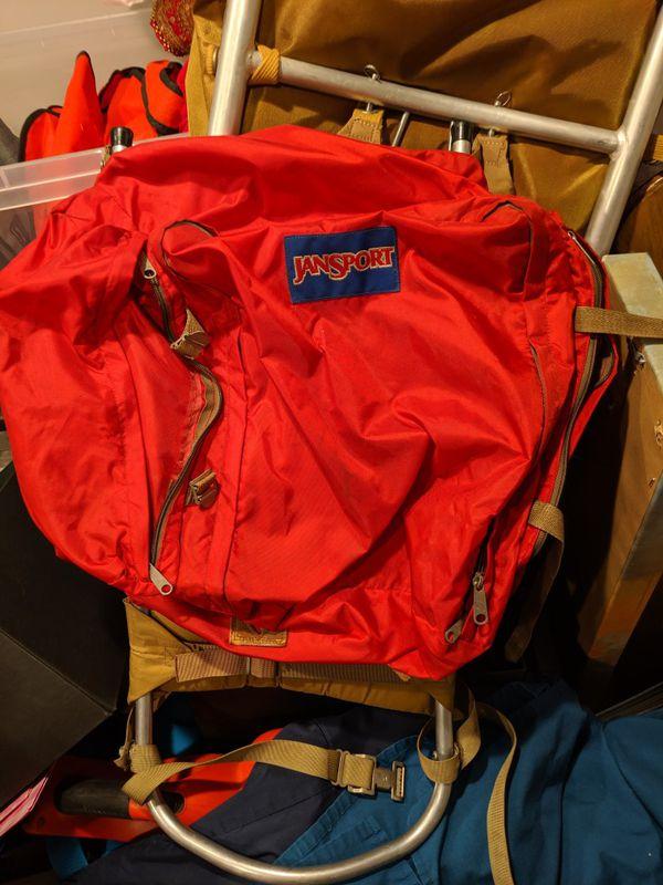 Jansport Hiking Camping Metal Brace Frame Backpack