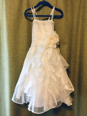 Size 2 toddler flower girl dress wedding formal party ivory color polyester for Sale in Vancouver, WA