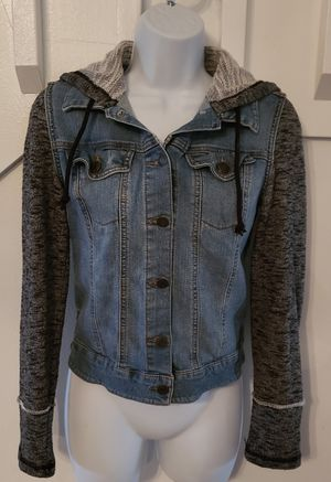Mossimo denim jacket hoodie sz. Small for Sale in Longwood, FL