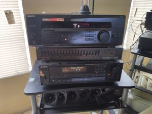 Two Sony receivers and equalizer for Sale in Miramar, FL