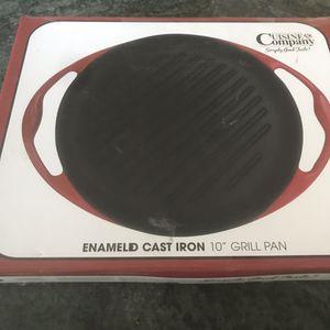 "NIB Cuisine Compnay Enamaled Cast Iron 10"" Grill Pan for Sale in Chandler, AZ"