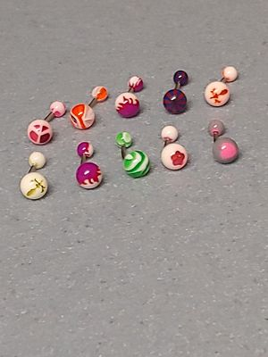 Brand new surgical stainless steel colorful belly button ring lot / body jewelry lot , 10 pcs total for Sale in New Port Richey, FL