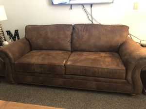 Micro suede Brown Full size Couch for Sale in Chesapeake, VA