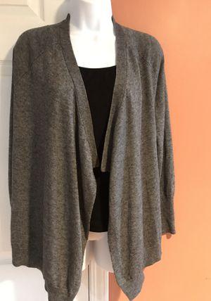 Women's Open-Front Wool Blend Cardigan by Joan Vass, Size S for Sale in Southfield, MI