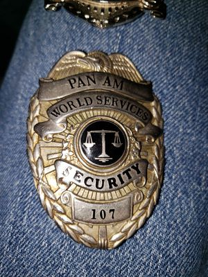 Vintage 1960's Blackinton Pan Am World Services Security Badges for Sale in Alta Loma, CA